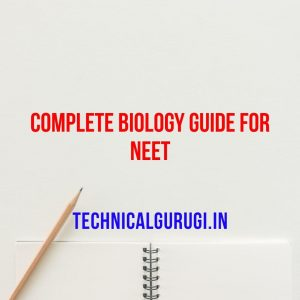 Download Complete Biology Guide For NEET Pdf
