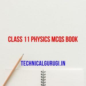 CLASS 11 PHYSICS MCQs BOOK