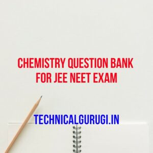 chemistry question bank for jee neet exam