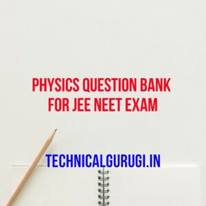 physics question bank for jee neet exam