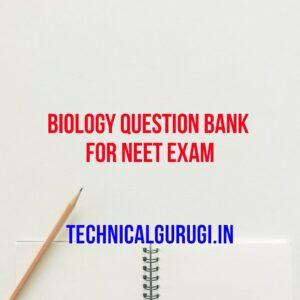 biology question bank for neet exam