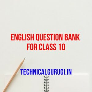 english question bank for class 10