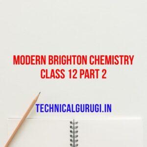 Modern Brighton Chemistry Class 12 Part 2 In Gujarati Medium