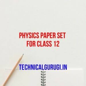 physics paper set for class 12
