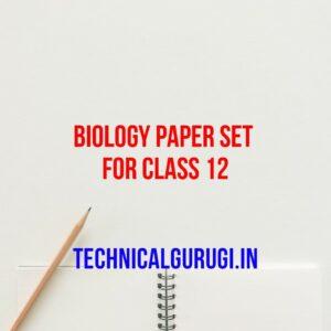 biology paper set for class 12
