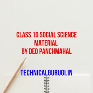 class 10 social science material by deo panchmahal