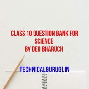 class 10 question bank for science by deo bharuch