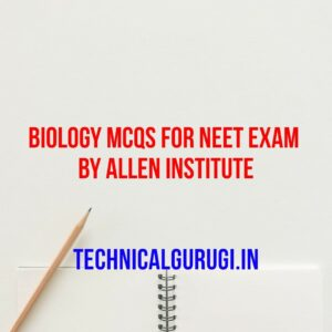 biology mcqs for neet exma by allen institute