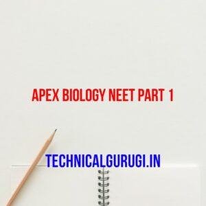 Apex Biology NEET Part 1